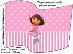 Dora Balletista: Imprimibles Gratis para Fiestas.