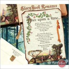Fairy Tale Wedding Invitation Medieval Once Upon A Time Medieval