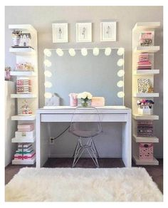 Bedroom Storage Ideas For Clothes, Bedroom Storage For Small Rooms, Bedroom Decor For Teen Girls, Cute Bedroom Ideas, Cute Room Decor, Teen Room Decor, Room Ideas Bedroom, Tween Girls, Diy Bedroom