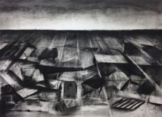 art, dessin, drawing, charcoal, fusain, black, paper, white, 2015 contemporary drawing