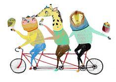 Childrens Art  Bike Print  Kids decor  por AshleyPercival en Etsy