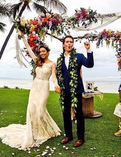 14 Celeb Wedding from 2014 by Perfect Day Bride. Renee Puente & Matthew Morrison