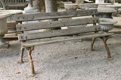 Late 18th century antique English cast iron bench frames, circa 1780. #antique #bench