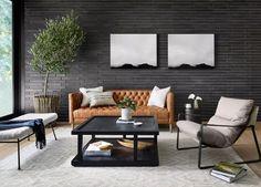 Masculine Living Rooms, Living Room Modern, Living Room Sofa, Home Living Room, Living Room Decor, Manly Living Room, Masculine Apartment, Masculine Room, Masculine Interior