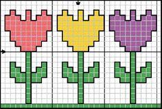Tulips  hama perler beads pattern