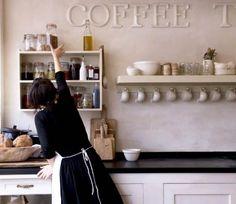 modern rustic kitchen- some good inspiration here. Hanging Mugs, Rustic Kitchen, Kitchen Ideas, Kitchen Inspiration, Kitchen Decor, Kitchen Designs, Life Inspiration, Kitchen Stuff, Country Kitchen