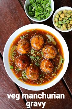 manchurian gravy recipe, veg manchurian gravy, vegetable manchurian with step by step photo/video. indo chinese gravy appetiser with deep fried veg balls. Paneer Recipes, Veg Recipes, Spicy Recipes, Curry Recipes, Appetizer Recipes, Vegetarian Recipes, Cooking Recipes, Manchurian Recipe Vegetarian, Jai Faim
