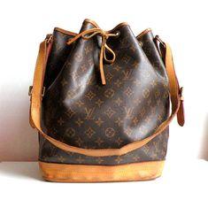 Vintage Louis Vuitton Handbags | Vintage Louis Vuitton Noe Monogram Bag by topgens on Etsy