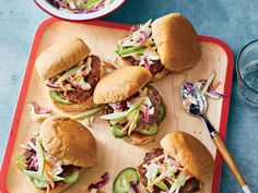 Sliders make any burger night more fun, especially since you get double the patties and double the creamy, crunchy slaw. Look for ground ...