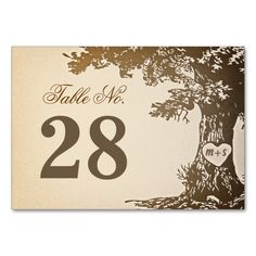 Old Tree Wedding Table Number Cards Place Cards Table Cards Outdoor Wedding Tables, Card Table Wedding, Wedding Table Numbers, Wedding Place Cards, Oak Tree Wedding, Vintage Invitations, Wedding Matches, Table Cards, Personalized Wedding