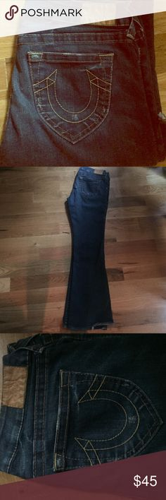 True Religion Becky Flare sz 32 True Religion Beck flare jeans. Almost new condition. 2% stretch. Open to offers!!! True Religion Jeans Flare & Wide Leg