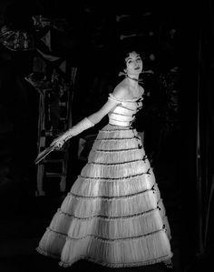 Suzy Parker | Wearing Pierre Balmain 1954