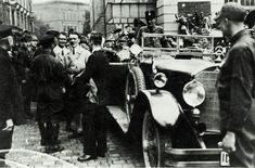 Adolf Hitler on July 4, 1926 in Weimar. He is wearing his Windjacke and  Kniebundhosen and his hair is longer here than at any point thereafter.1926
