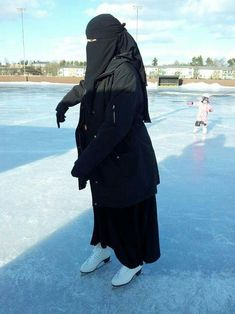 Ice Skating in Niqab