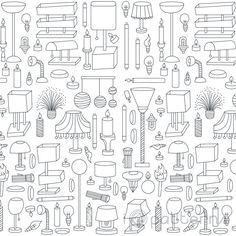 Black and White Lighting (seamless, repeating) pattern design. ©ankepanke http://iheartpatterns.nl