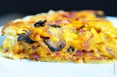 Bacon and Mushroom Quiche Recipe from addapinch.com