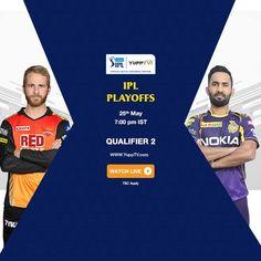 IPL Playoffs, Qualifier Kolkata Knight Riders Face Stiff SunRisers Hyderabad Challenge at the Eden Gardens in Kolkata Today. Watch Qualifier 2 match today at PM IST on YuppTV IPL - Indian Premier League Eden Gardens, Matches Today, May 7th, Kolkata, Hyderabad, Premier League, Knight, Challenges, Indian