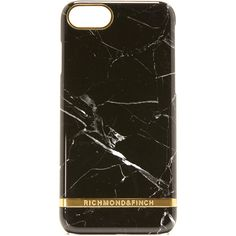 Richmond Finch Black Marble IPhone 7 Case ($46) ❤ liked on Polyvore featuring accessories and tech accessories