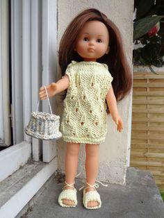 robe été point cornet de glace pour poupées les chéries 30 cm à 35 cm : Jeux, jouets par vetements-de-poupee-corolle-de-afc33