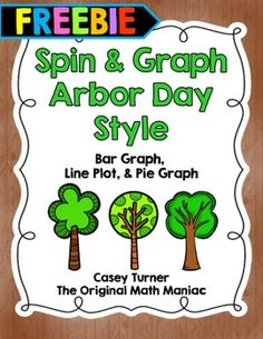 Arbor Day Spin & Graph Activity FREEBIE
