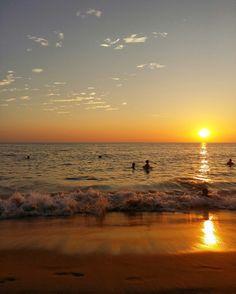 Golden sea at karon beach Phuket Thailand. ^__^