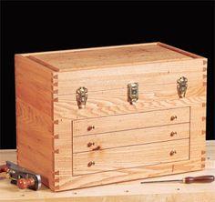 Ah! E se falando em madeira...: Caixa de ferramentas de luxo