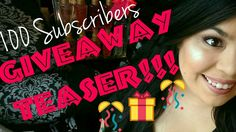 GIVEAWAY TEASER ;) | 100 SUBSCRIBERS!!