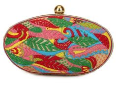 Raw Silk Kashmiri Embroidery Oval Clutch #Ekatrra #Handbag #Clutch #Purse #Embroidered #Partywear #Collection #Womenwear #Fancy #Fashion #Follow #Gift #Love #Indaindesigner #Traditional #Stepintostyle #Stepintoawesome Shop Now: http://bit.ly/1YFLL4h