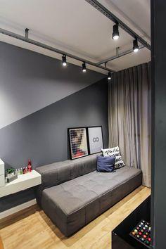 Apartamento alto do ipiranga salas de estar modernas por sp estudio moderno Bedroom Wall Designs, Home Decor Bedroom, Home Living Room, Living Room Designs, Living Room Decor, Decor Room, Paint Colors For Living Room, Bedroom Colors, Living Room Inspiration