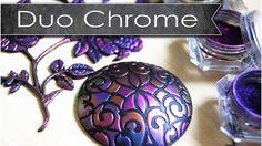 Découverte des poudres Duo chrome / tuto polymère