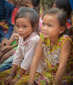 Two girls Dor Village Cambodia