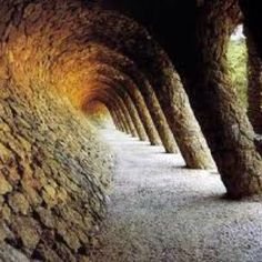 my kids loved park guell in barcelona . spain . gaudi