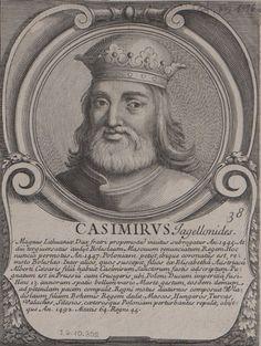 Kazimierz Jagiellończyk grafika Benoita Farjata. Poland History, Historia, Pictures