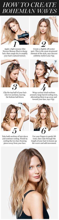 Wavy Hair Tutorial -How to Get Boho Wavy Hair #boho #hair #wavy