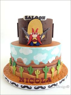 I love Yosemite Sam! by Ennas' Cake Design - Cake Wrecks - Home - Sunday Sweets: 12 Cakes To Make You Feel Like A Kid Again Cupcakes, Cupcake Cakes, Kid Cakes, Movie Cakes, Cake Wrecks, Character Cakes, Just Cakes, Novelty Cakes, Fancy Cakes