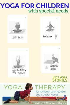 Yoga for Children with Autism and Special Needs Kids Yoga Stories Kids Yoga Poses, Yoga For Kids, Exercise For Kids, Kids Workout, Yoga Position, Down Syndrom, Childrens Yoga, Yoga Books, Yoga Lessons