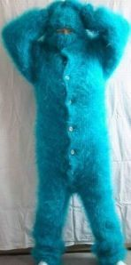 someone could scare the crap out of me with this! and then id die of laughter...knit some purple spots and horns and you could be sully from monsters inc :P