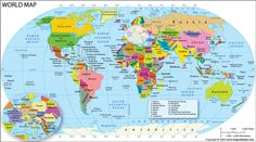 World map - Political Map of the World showing names of all countries with political boundaries. Download free map of world in pdf format. Name Of All Countries, World Map With Countries, Usa Road Map, Full World Map, Vienna Map, World Map Picture, World Political Map, Belgium Map, Color World Map
