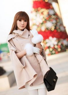 Amazing Woolen Cape Style Double Breasted Women Coat on BuyTrends.com, only price $32.40
