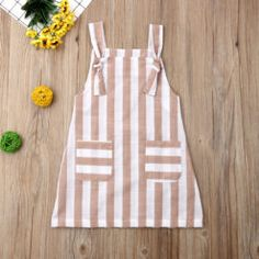 Pudcoco Summer Toddler Baby Girl Clothes Sleeveless Striped Strap Dress Casual Pockets Summer Sundress – zoomcart Kids Frocks Design, Baby Frocks Designs, Frocks For Girls, Little Girl Dresses, Dress Girl, Cute Baby Dresses, Baby Girl Frocks, Baby Girl Fashion, Kids Fashion