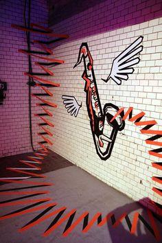 "Bild: 3D Klebeband Graffiti Kunst- ""The Sound"""