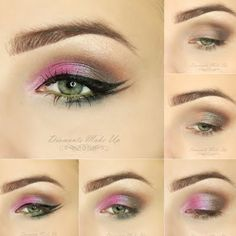 This eye makeup features a pink base contoured with a dark pigment creating a contrast of subtle and sweet. Check out the pictorial and see the must-haves for this dashing look.