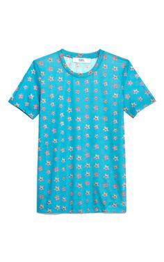 Shop Short Sleeve All Over Flower Tee by Prabal Gurung Now Available on Moda Operandi