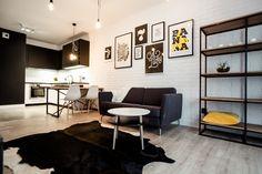 Mieszkanie pokazowe Ultra Nova w Nowej Papierni - 46 m kw. Living Etc, Living Room, Interior And Exterior, Interior Design, Mini, Dining Bench, Beautiful Homes, Gallery Wall, Luxury