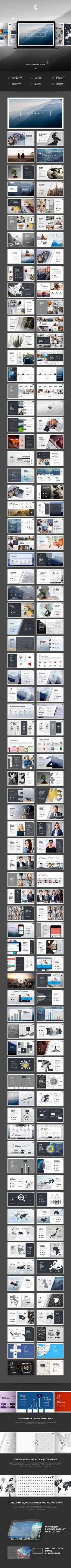 공간 PowerPoint - PowerPoint 템플릿 프리젠 테이션 템플릿