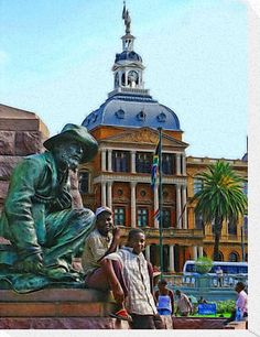 Church Square, Pretoria, South Africa remember sitting lunchtime on Church Square eating our lunch lovely break from the office Pretoria, Especie Animal, Namibia, Port Elizabeth, Kruger National Park, My Land, Africa Travel, Countries Of The World, Places To See