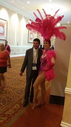 Las Vegas Showgirl at G2E 2015.  Global Gaming Expo