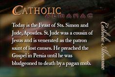 #SaintSimon #SaintJude #martyrs #prayforus