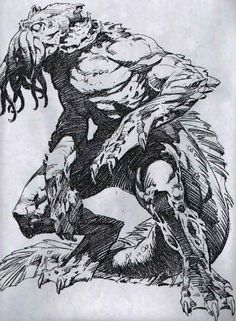 "Concept art for unmade ""The Shadow over Innsmouth"" movie by Bernie Wrightson"