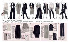 10 items - 10 ways Black and Tweed